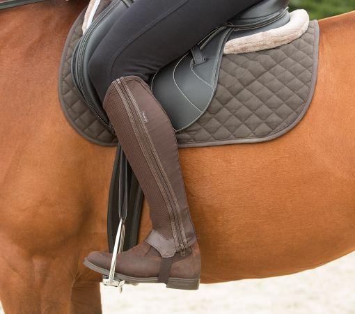 Jezdecké boty z nubuku
