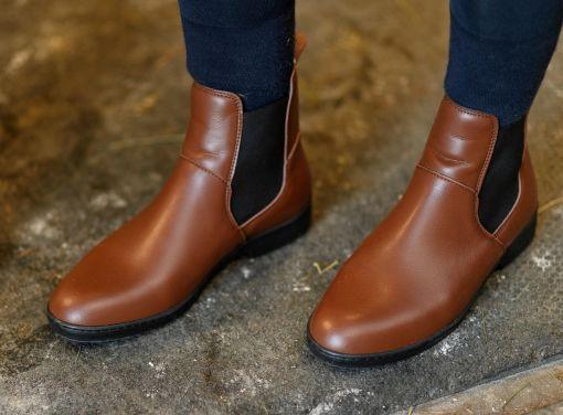 Jezdecké boty ze syntetické kůže