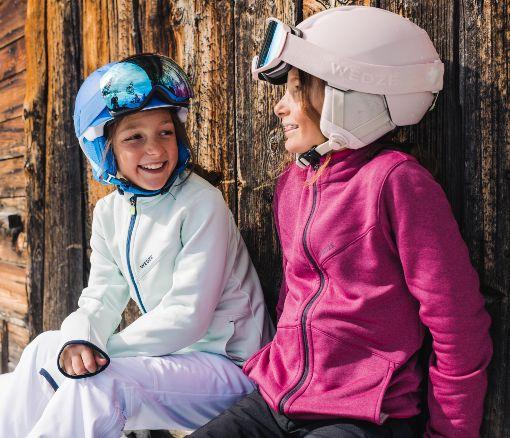 Děti před lyžováním