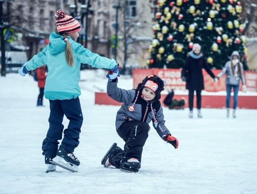Děti na ledě