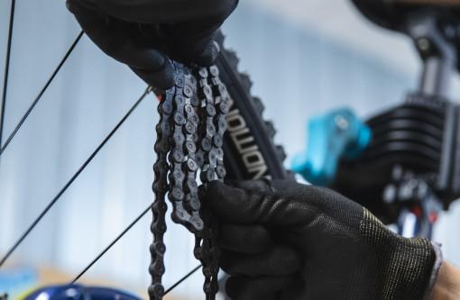 Montáž řetězu na kolo