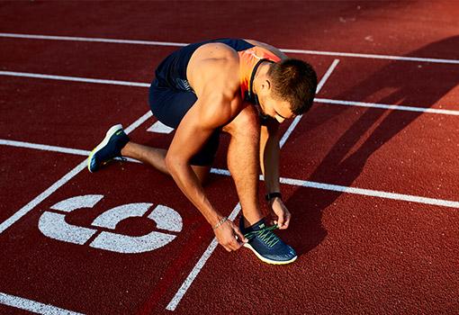 běžec na startu