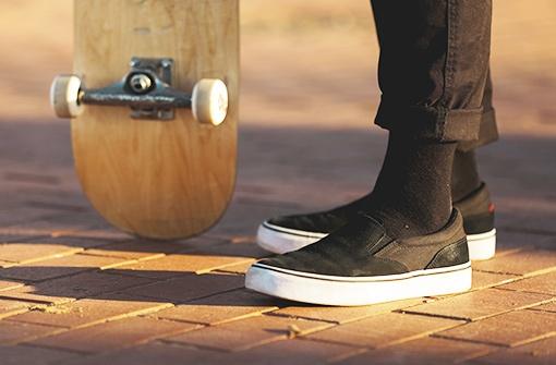 skateboard a boty