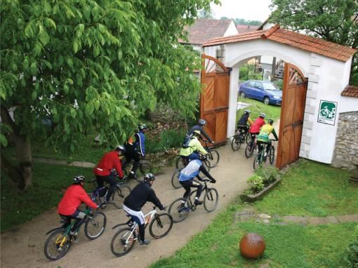 skupina cyklistů
