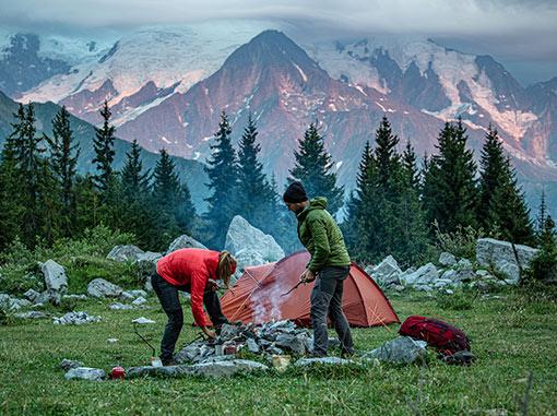 tábořiště v přírodě
