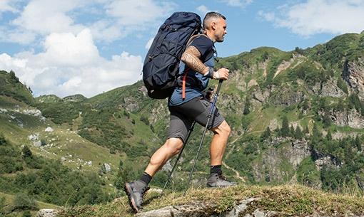 turista na horách