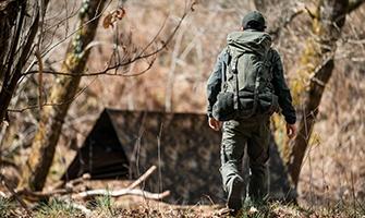 lovecké vybavení a batohy
