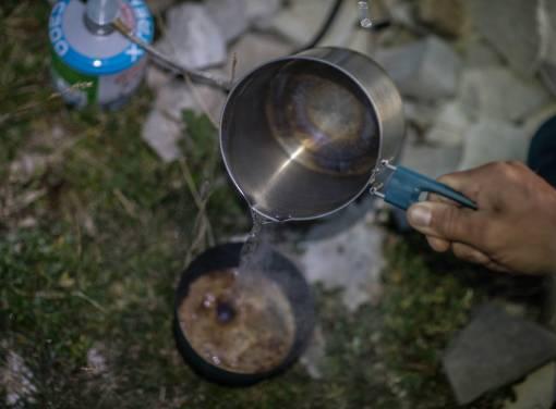 turistický ešus na vaření