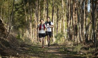 běžci v lese